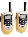 mini-walkie talkie 22 canais (faixa de 5 km, 2-pack, amarelo)