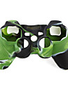 Protective Dual-Color Style Silicone Case for PS3 Controller (Green and Black)