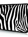 """caja de la manga del ordenador portatil del neopreno raya de la cebra de 10 """"11"""" 13 """"15"""" macbook ipad dell hp acer samsung"""