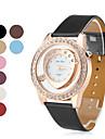 em forma de coração da mulher estilo pu couro analógico relógio de pulso de quartzo (cores sortidas)