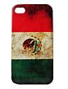 старинный флаг стиле Мексики картина жесткий кейс для iphone 4 и 4s