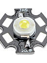 Epistar 6000-6500k 3W 170-190lm 700mAh witte LED-lamp met aluminium plaat (3,4 3,8 V)