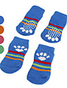 Dog Shoes & Boots / Socks Green / Blue / Pink / Orange Spring/Fall CottonDog Shoes