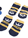 Dog Socks Casual/Daily Keep Warm Winter Spring/Fall Stripe Blue Black Cotton