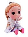 детские куклы стиле сплава аналоговые кварцевые часы брелок (фиолетовый)