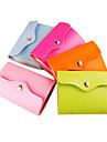 bolso del color del caramelo de la PU de la caja de tarjeta de cuero (color al azar)