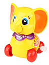 Educational Smiling Little Elephant Clockwork Toys for Kids (Yellow)