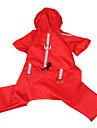 réfléchissante coût pluie ruban style avec pantalon pour chiens (couleur assortie, s-xl)