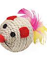 Sisal forma del raton de bola del estilo de Juguetes por aranazo de gato