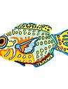 Estilo colorido de los pescados Catnip Juguete para gato