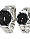 Couple Style Unisex Steel Analog Quartz Wrist Watch (Silver)