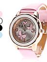 Women\'s Quartz Analog 3 Butterflies Pattern PU Band Wrist Watch (Assorted Colors)