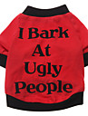 I Bark at Ugly People Pattern T-Shirt for Dogs (S-XXL)