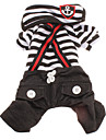 Cat / Dog Pants / Clothes/Clothing Red / Black / White Spring/Fall Stripe / Nautical