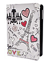 Cartoon Eiffel Tower Pattern PU Leather Case w/ Stand for iPad mini 3, iPad mini 2, iPad mini