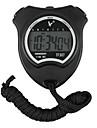 Preto Shockproof Wearable exterior Cronometro com funcao de despertador