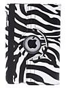 draaibare zebra-streep pu lederen case w / stand voor iPad mini 3, ipad mini 2, ipad mini