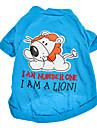 Dog Shirt / T-Shirt Blue Spring/Fall Letter & Number
