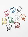 Cat Style Colorful Paper Clips (Random Color, 10-Pack)