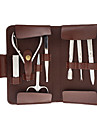 Personal Care 8pcs Cosmetic Manicure Kits Set with Brown Portable Bag