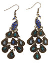 Colourful Peacock Alloy Earrings