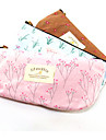Textile Rural Flower Pencil Bag(Random Colors)