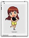 Padrao menina adesivo de protecao para o iPad 1, iPad 2, iPad 3 e The New iPad