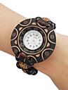 Women\'s Bracelet Style Wood Analog Quartz Watch (Multi-Colored)