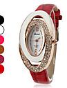 Femme Montre Tendance Quartz Bande Etincelant Noir / Blanc / Rouge / Marron / Rose