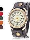Women\'s Vintage Case Wide Leather Band Quartz Wrist Watch (Assorted Colors)