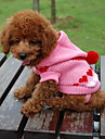 Cat / Dog Sweater / Hoodie Black / White / Blue / Pink Dog Clothes Winter Hearts