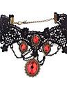 Ожерелье Ожерелья-бархатки Винтаж Ожерелья Татуировка Choker Бижутерия Для вечеринок Мода Сплав Циркон 1шт Подарок Серебряный