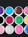 12 Couleur Transparent Gel UV Glaze