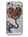 elefante segurando flores desenho padrao black frame caso dificil pc colorida para o iphone 5/5s