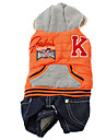 Cat / Dog Pants Blue / Orange Winter Sport
