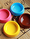 Circle Shape Plastic Pet Food Bowl for Dogs Cats (Assorted Colors, Sizes)