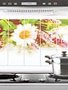 75x45cm crisantemo selvagem Padrao de oleo a prova de agua a prova de cozinha adesivo de parede