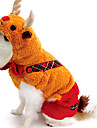 Dog Coat Orange Winter Animal Cosplay / Christmas