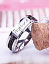 """Eruner®Men\'S Unique """"My Love""""Black Ring(Assorted Sizes)"""
