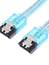 SATA 6Gbps Cable w/Locking Latch Neon Blue(0.5M)