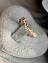 Ring Jewelry Crystal / Alloy Band Rings8½ Gold
