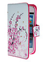 Mini Elegant Flower Pattern PU skinnveske med Magnetic Snap og kortplass for Samsung Galaxy S3 mini I8190