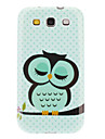 Sleeping Owl Pattern Hard Case fuer Samsung Galaxy S3 I9300