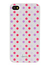 DEVIA Concise Red and Purple Round Dots Pattern Smooth Surface PC Hard Case for iPhone 4/4S