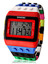 Women\'s Watch Sports Digital Rainbow Block Brick Style