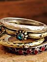 Familia De Cuatro nacional del viento retro anillo de diamantes R449