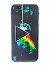 triangle avec le feu Embossment retour cas pour iPhone 5 / 5s