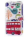 London Red Bus Pattern Leather Case with Holder & Card Slots for iPhone 5/5S