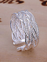 Ring Adjustable Daily Jewelry Alloy Women Band Rings 1pc,Adjustable Silver