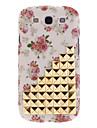 Горячие Продаем моды бежевый Шипованная Коты цветов кожного покрова чехол для Samsung Galaxy S3 GT-i9300